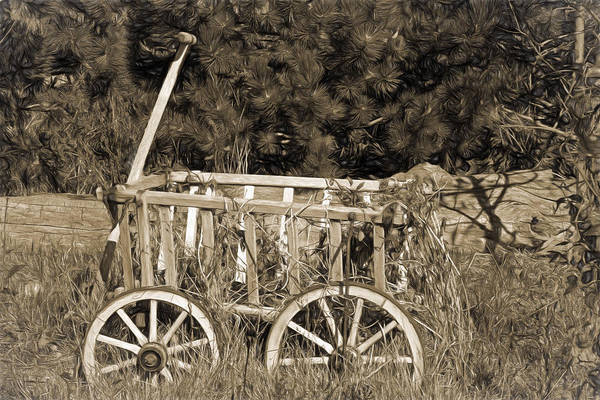 Wagon Wheel Photograph - Antique Wagon by Donna Kennedy