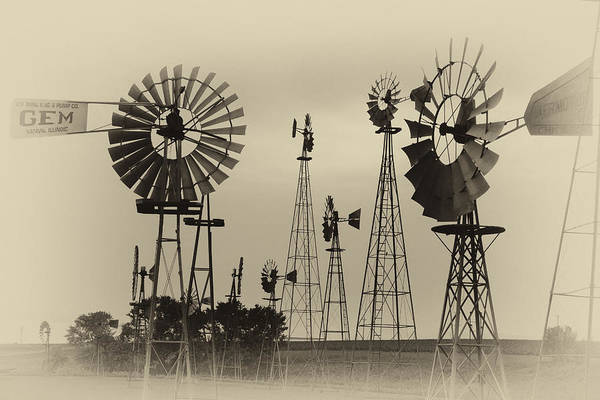 Photograph - Antique Windmills by Patricia Schaefer