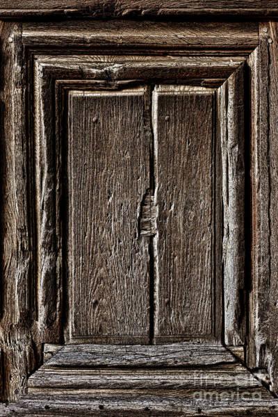 Photograph - Antique Wood Door Panel by Olivier Le Queinec