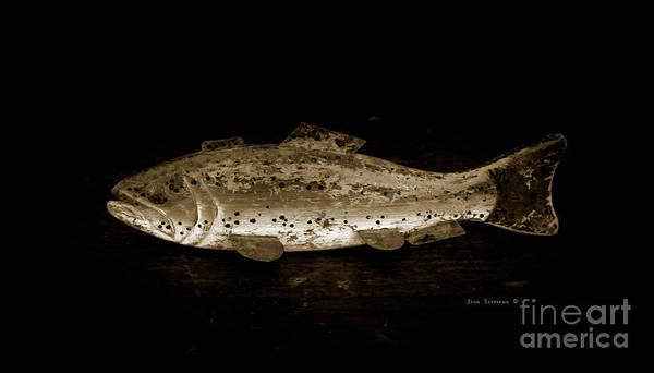 Wall Art - Photograph - Antique Wood Fish Decoy American Folk Art Toned by John Stephens