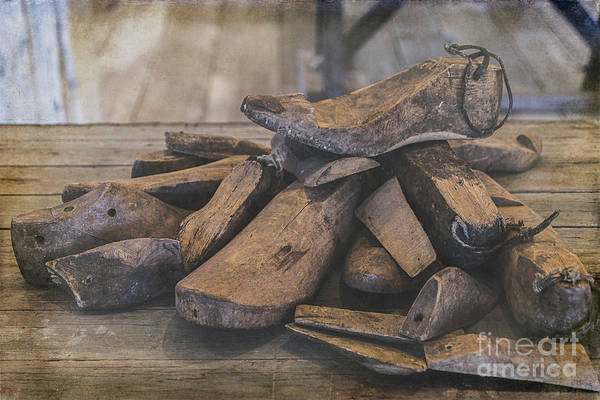 Photograph - Antique Wooden Shoe Forms by Teresa Wilson