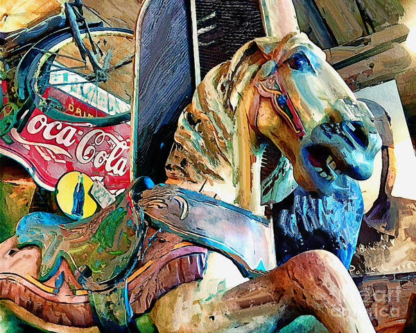 Photograph - Antiques Carousel Horse by Eleanor Abramson