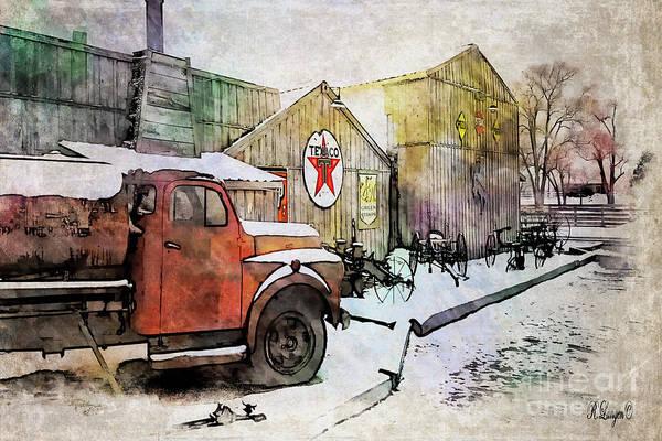 Newcastle Digital Art - Antiques In Watercolor by Rebecca Langen