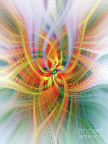 Digital Art - Antirrinhum Twirl by Elaine Teague
