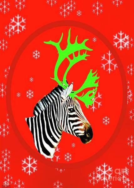 Photograph - Antlered Zebra by Lizi Beard-Ward