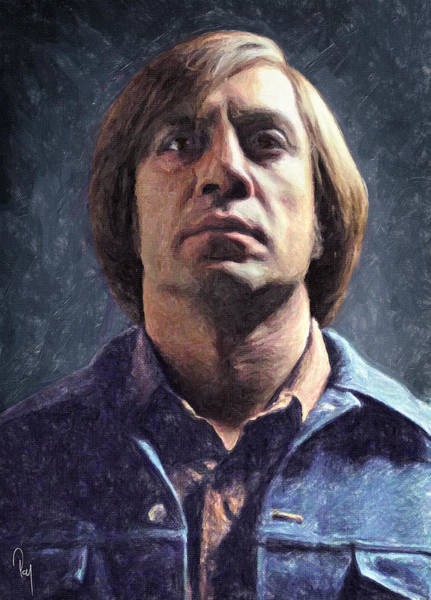 Serial Killer Painting - Anton Chigurh by Zapista Zapista
