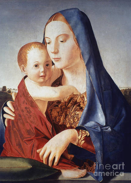 Photograph - Virgin And Child by Antonello da Messina