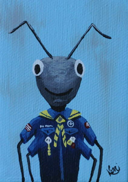 Wall Art - Painting - Ant's School Picture by Kerri Ertman