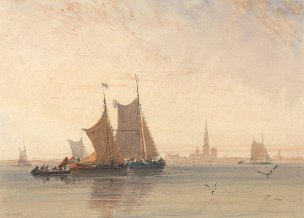 Painting - Antwerp, Morning by David Cox
