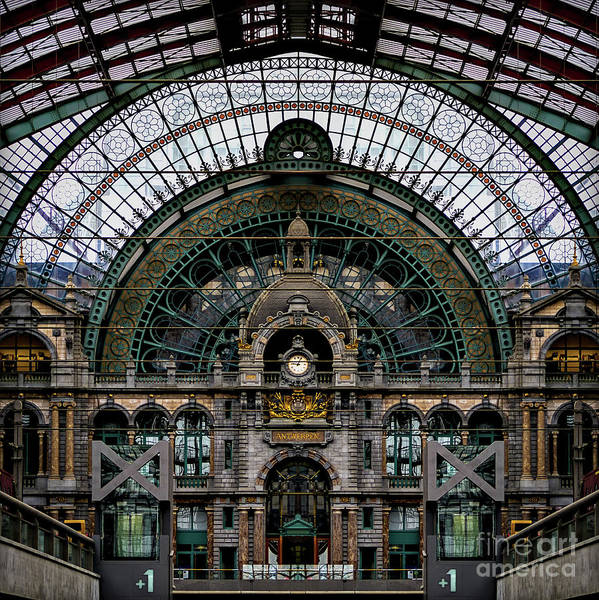 Antwerp Photograph - Antwerp Train Terminal by Doug Sturgess