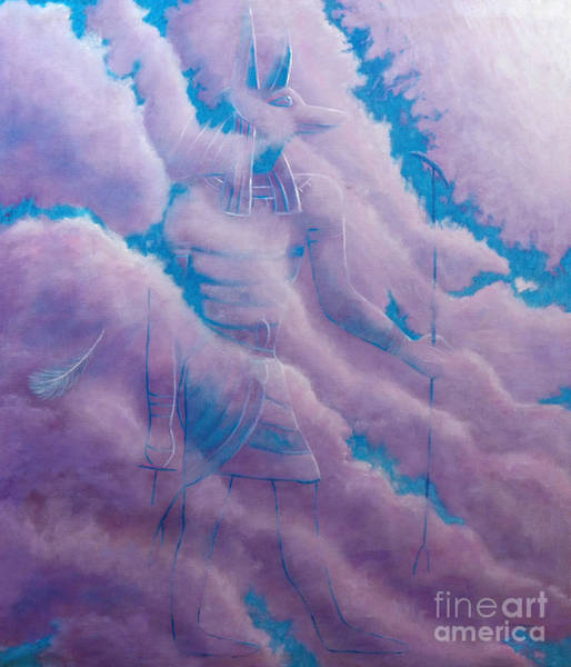 Wall Art - Painting - Anubis  by Brian  Commerford
