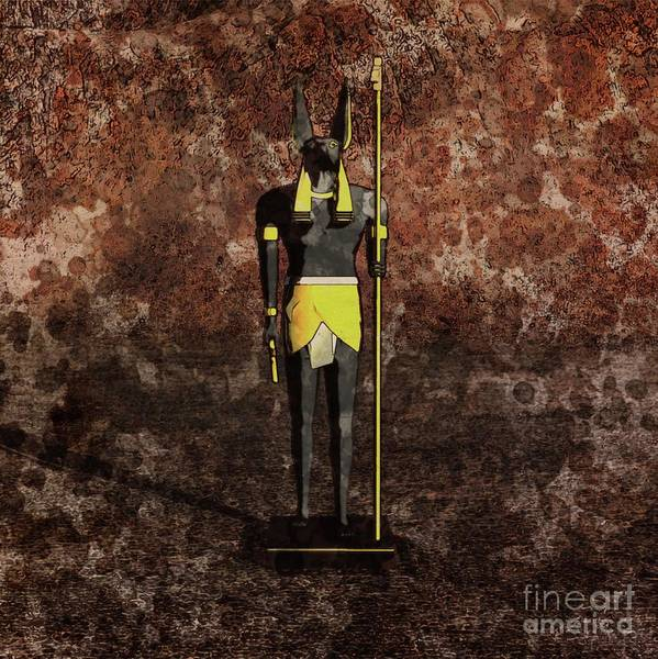 Egypt Digital Art - Anubis By Raphael Terra And Mary Bassett by Raphael Terra