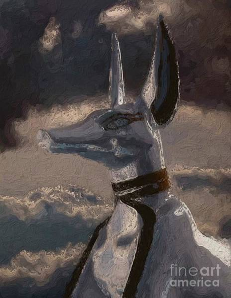 Ancient Egypt Painting - Anubis God Of Egypt By Mary Bassett by Mary Bassett