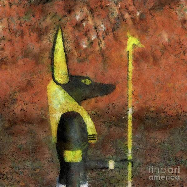 Ancient Egypt Painting - Anubis God Of Egypt By Raphael Terra by Raphael Terra