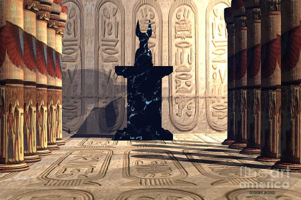 Wall Art - Painting - Anubis Temple by Corey Ford