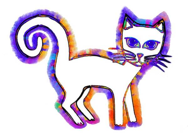 Digital Art - Any Cat Is A Cat From His Whiskers To His Tail by Madalena Lobao-Tello
