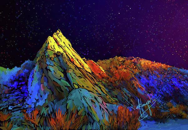 Anza Borrego Desert Peak Art Print