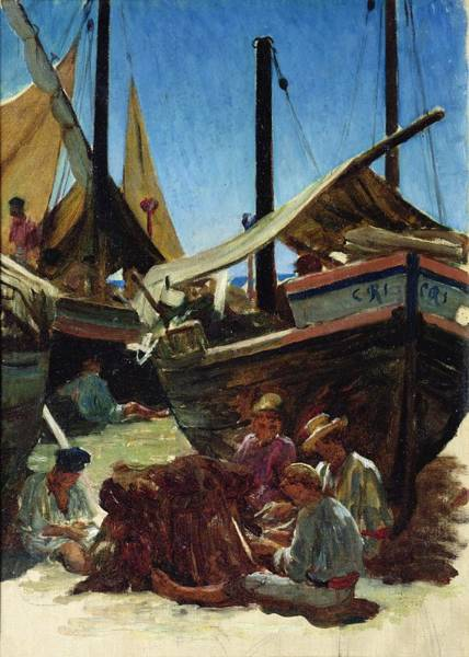 Wall Art - Painting - Anzio The Port by Antoine Auguste Ernest Hebert