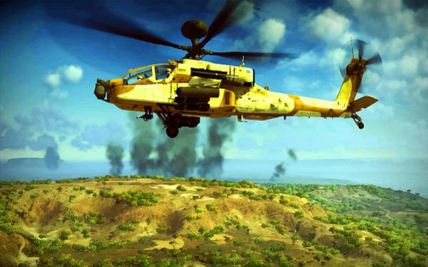 Junkers Digital Art - Apache Ai Assault - Operation Desert Wolves by Don Kuing