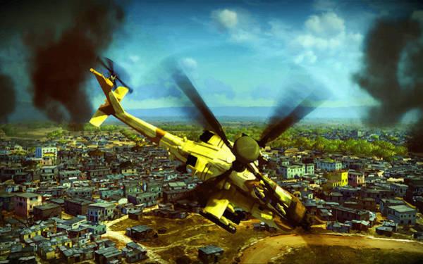 Junkers Digital Art - Apache Ai Assault - Operation Osama by Don Kuing