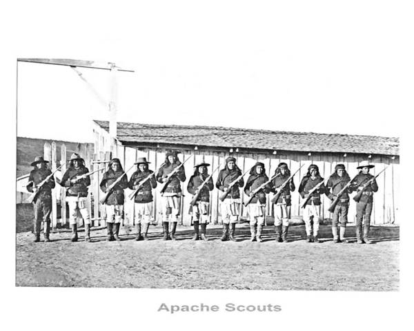 Photograph - Apache Army Scouts by John Feiser