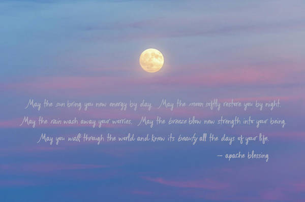 Apache Blessing Harvest Moon 2016 Art Print