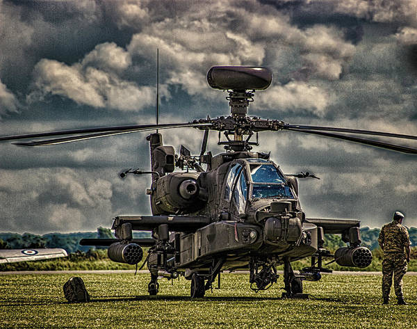 Hover Photograph - Apache by Martin Newman