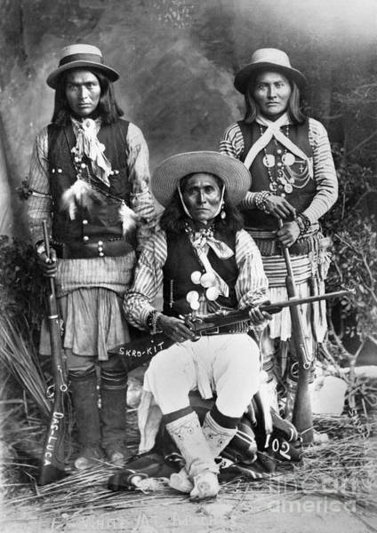 Wall Art - Photograph - Apache Men, C1909 by Granger