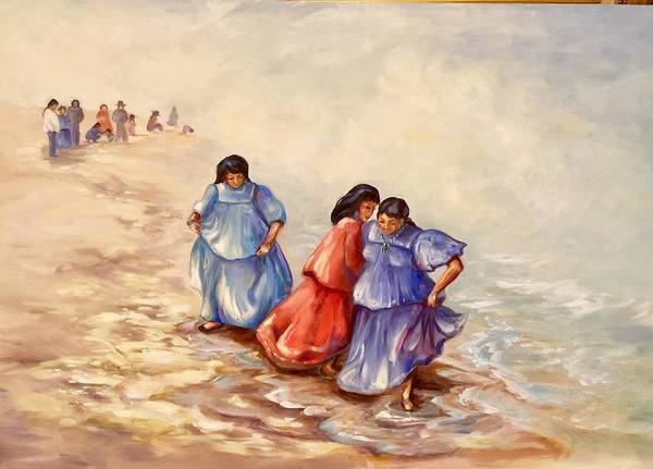 Painting - Apache Ocean Dance by Caroline Patrick