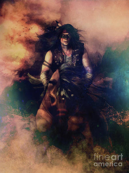Wall Art - Digital Art - Apache Warrior by Shanina Conway