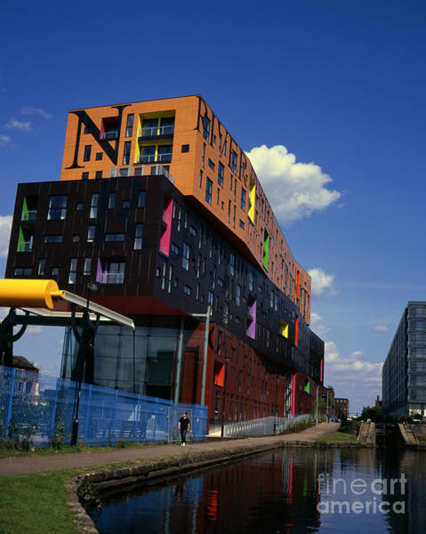 Greater Manchester Wall Art - Photograph - Apartment Block By The Ashton  Canal Ancoats New Islington Manchester England by Michael Walters