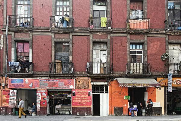 Photograph - Apartment Building, Mexico City 2016 by Chris Honeyman