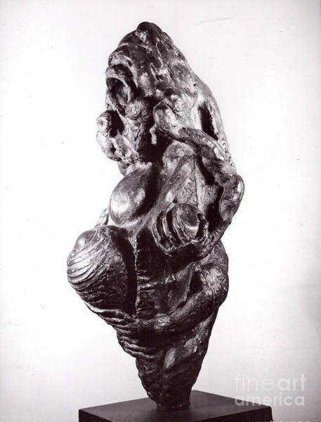 Sculpture - Ape Mother II  by Robert F Battles
