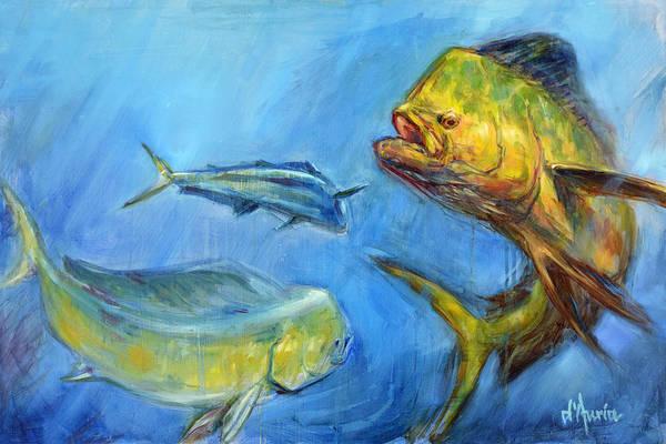 Saltwater Painting - Apex by Tom Dauria