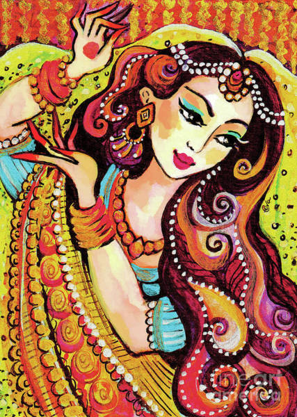 Wall Art - Painting - Abhinaya by Eva Campbell