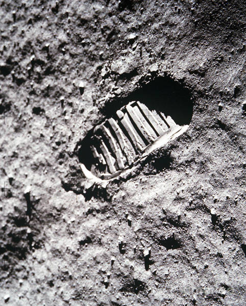Photograph - Apollo 11 Footprint On The Moon by NASA Science Source