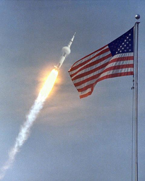Apollo 11 Launch Art Print