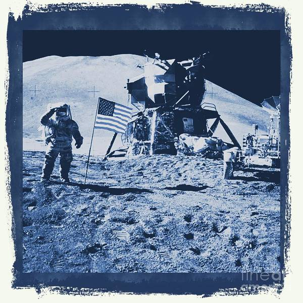 Astronaut Digital Art - Apollo 15 Mission To The Moon - Nasa by Raphael Terra