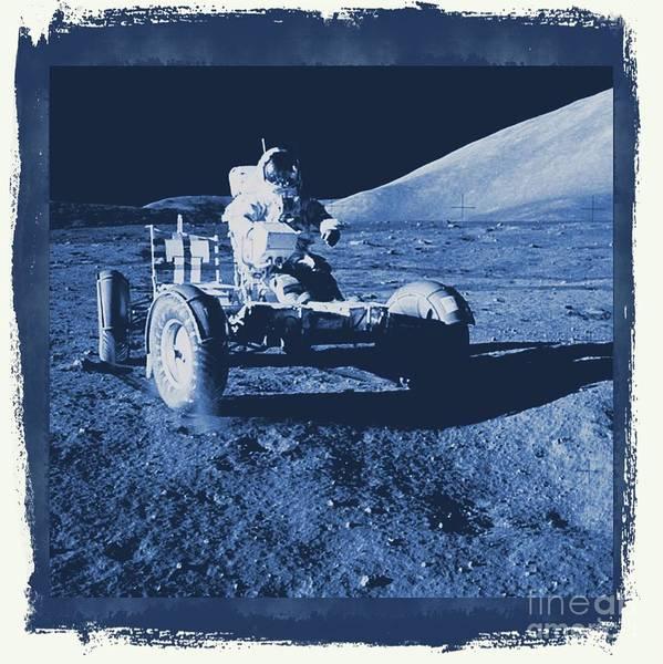 Space Exploration Digital Art - Apollo 17 Lunar Rover - Nasa by Raphael Terra