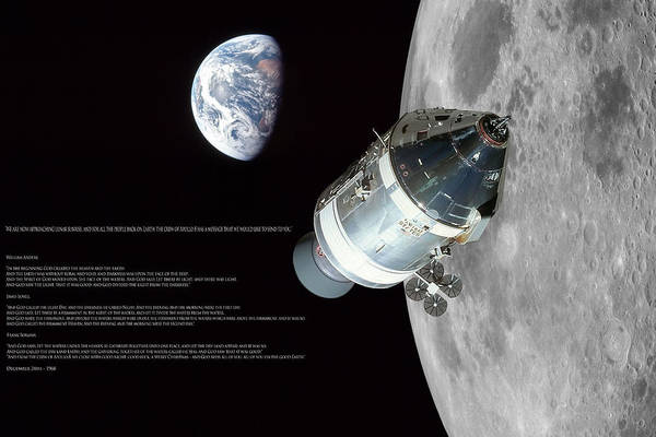 Wall Art - Digital Art - Apollo 8 Christmas Message by Peter Chilelli