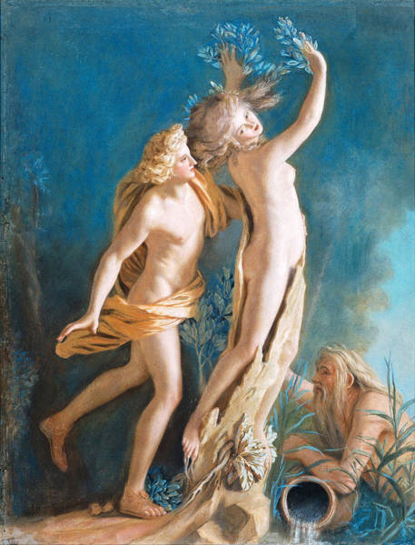 Jean Etienne Liotard Wall Art - Drawing - Apollo And Daphne by Jean-Etienne Liotard