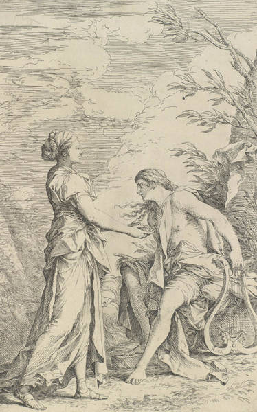Wall Art - Relief - Apollo And The Cumaean Sibyl by Salvator Rosa