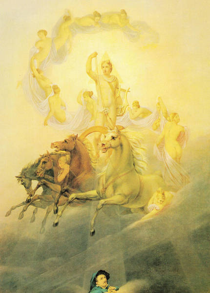 Wall Art - Painting - Apollo With The Hours by Georg Friedrich Kersting