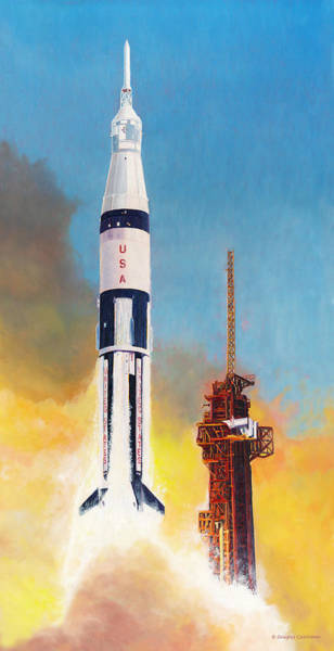 Painting - Apollo's Forgotten Rocket by Douglas Castleman
