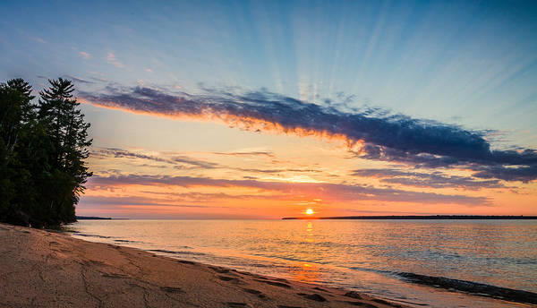 Photograph - Apostle Islands Sunset by Rikk Flohr