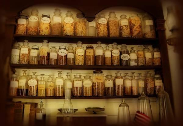 Photograph - Apothecary Jars by Sandy Keeton