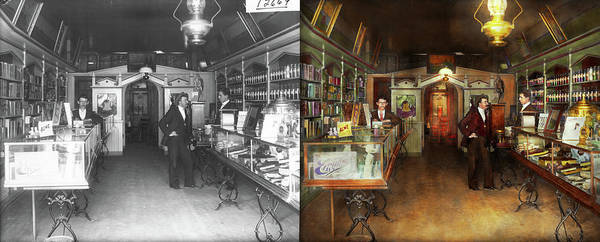 Photograph - Apothecary - Spell Books And Potions 1913 - Side By Side by Mike Savad