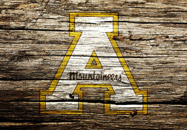 Wall Art - Mixed Media - Appalachian State Mountaineers 1a by Brian Reaves
