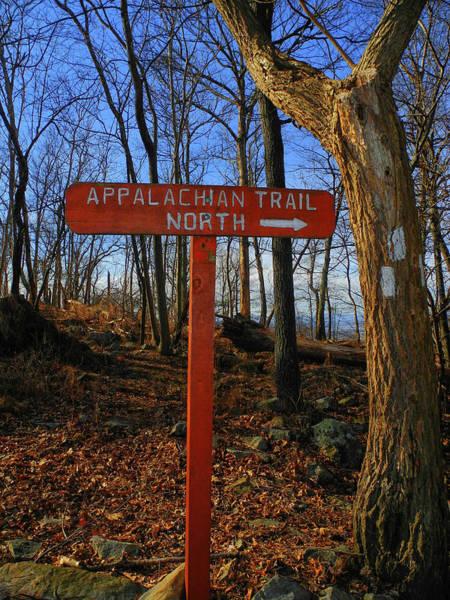 Photograph - Appalachian Trail In Maryland Sign by Raymond Salani III