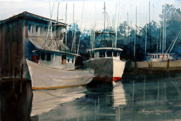 Painting - Appalachicola Docks by Charles Rowland